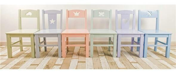 Girls room- Pomme chairs