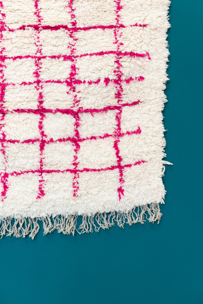 beni ourain pink grid